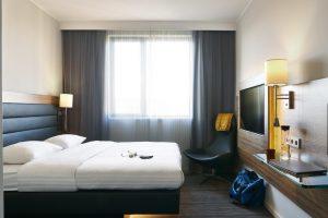 Moxy Hotel bedroom
