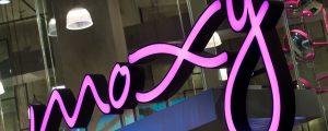 Moxy neon signage